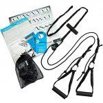 aeroSling ELITE - Sling Trainer mit Umlenkrolle und Türanker | Schlingentrainer inklusive Online-DVD und Poster | Fitness-Gerät für Krafttraining und Koordination